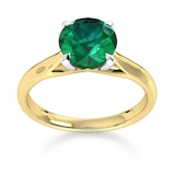 Mappin & Webb Ena Harkness 18ct Yellow Gold And 4mm Emerald Ring