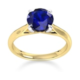 Mappin & Webb Ena Harkness 18ct Yellow Gold And 4mm Sapphire Ring