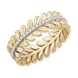 "Uneek 14k Yellow Gold ""Venice"" Stackable 0.20cttw Diamond Band"