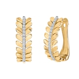 Uneek 14k Yellow Gold 0.10cttw Diamond Earrings