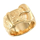 Hallmark 9ct Yellow Gold Buckle Ring
