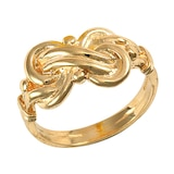 Hallmark 9ct Yellow Gold Double Knot Ring