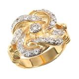 Hallmark 9ct Yellow Gold Cubic Zirconia Knot Ring