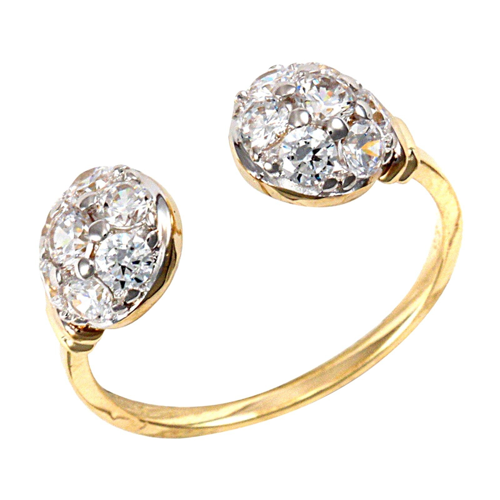 Details about  /9ct Yellow Gold Infinity Cubic Zirconia Twist Ring