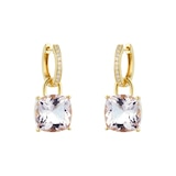 Kiki McDonough Kiki Classics 18ct Yellow Gold, Morganite and Diamond Hoop Detachable Earrings