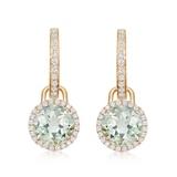 Kiki McDonough Grace 18ct Yellow Gold, Green Amethyst & Diamond Mini Detachable Drop Earrings