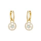 Kiki McDonough Apollo 18ct Yellow Gold, 0.08ct Blue Topaz and 0.50ct Diamond Small Detachable Earrings