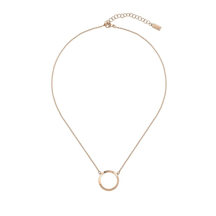 BOSS Ophelia Crystal Rose Gold Coloured Necklace