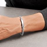 BOSS ID Stainless Steel & Black Silicone Bracelet