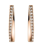 BOSS Rose Gold Coloured Twisted Stud Earrings