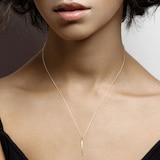 BOSS Rose Gold Coloured Twisted Bar Pendant