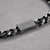 BOSS Black Chain Link Bracelet