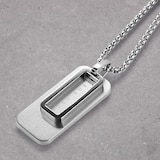 BOSS Dual Stainless Steel Double Pendant