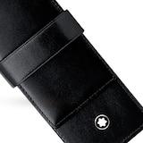 Montblanc Meisterstück Black Leather Double Pen Pouch