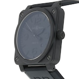 Pre-Owned Bell & Ross Pre-Owned Bell & Ross BR03-92 Black Matte Mens Watch BR03-92-CBL