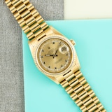Pre-Owned Rolex by Analog Shift Pre-Owned Rolex Day-Date 'String' Dial