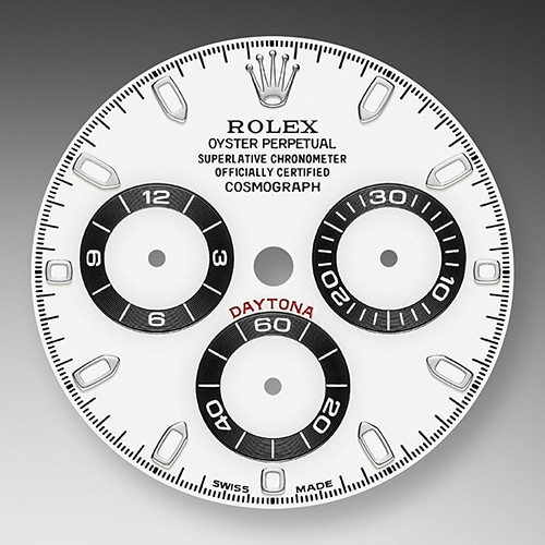 WHITE AND BLACK DIAL