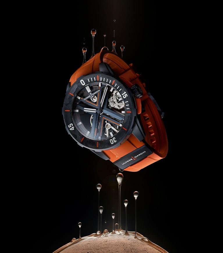Diver X Skeleton Orange 44m